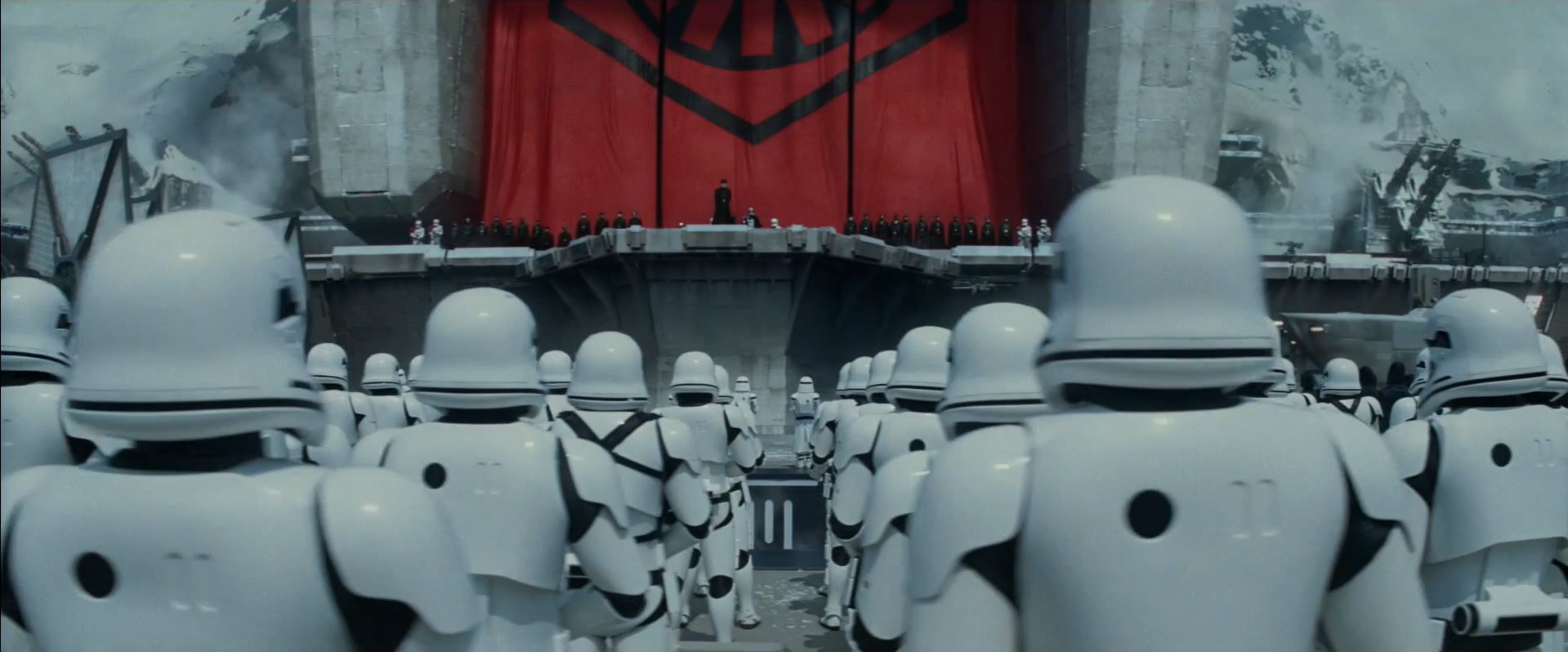 General Hux addresses the troops