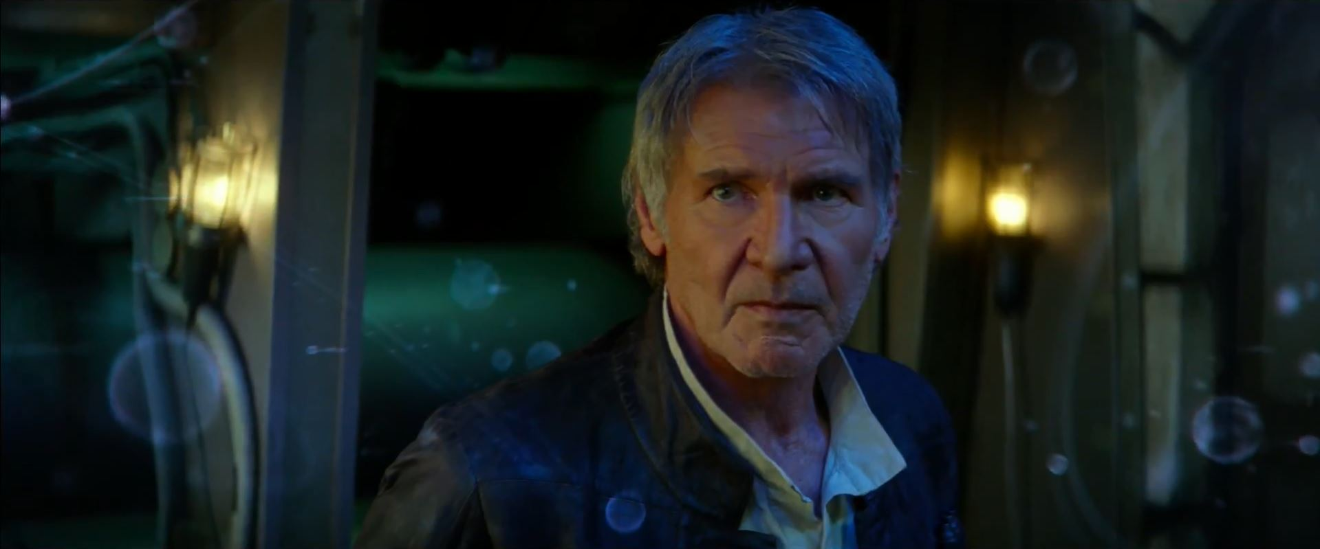 Han Solo talks to Finn and Rey. The Force Awakens trailer released