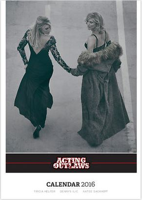 Acting Outlaws 2016 Calendar. Katee Sackhoff and Tricia Helfer in dresses.