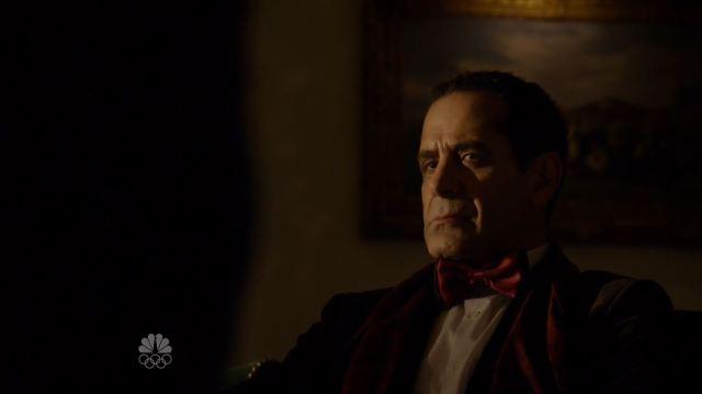 Alistair Pitt (Tony Shalhoub) listens to Reddington. The Blacklist S3Ep13 Alistair Pitt Review