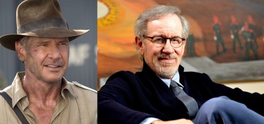 Harrison Ford and Steven Spielberg in Indiana Jones 5