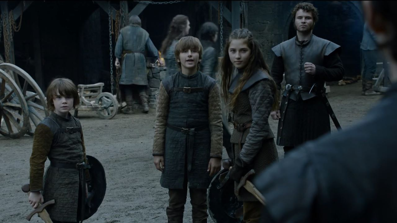 Benjen Ned and Lyanna Stark