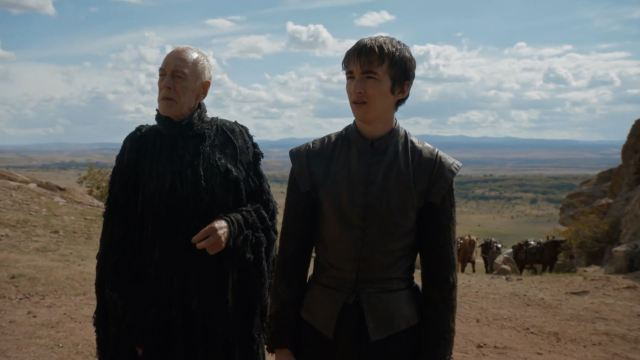 Bran and the Three-Eyed Raven watch the duel. Game Of Thrones S6Ep3 Oathbreaker Review