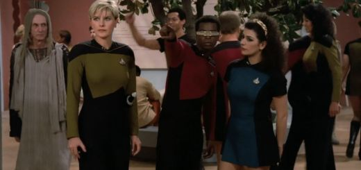 Star Trek The Next Generation A gentle Encounter Before Farpoint Deanna Troi wearing skirt uniform