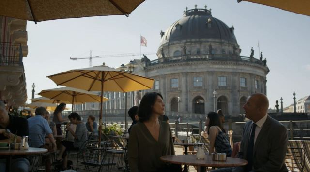 Berlin Station - MichelleForbes with the Bode Museum in the background