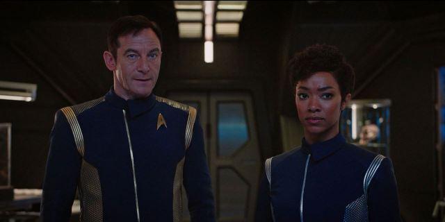 Star Trek Discovery Lorca and Burnham talk weapons