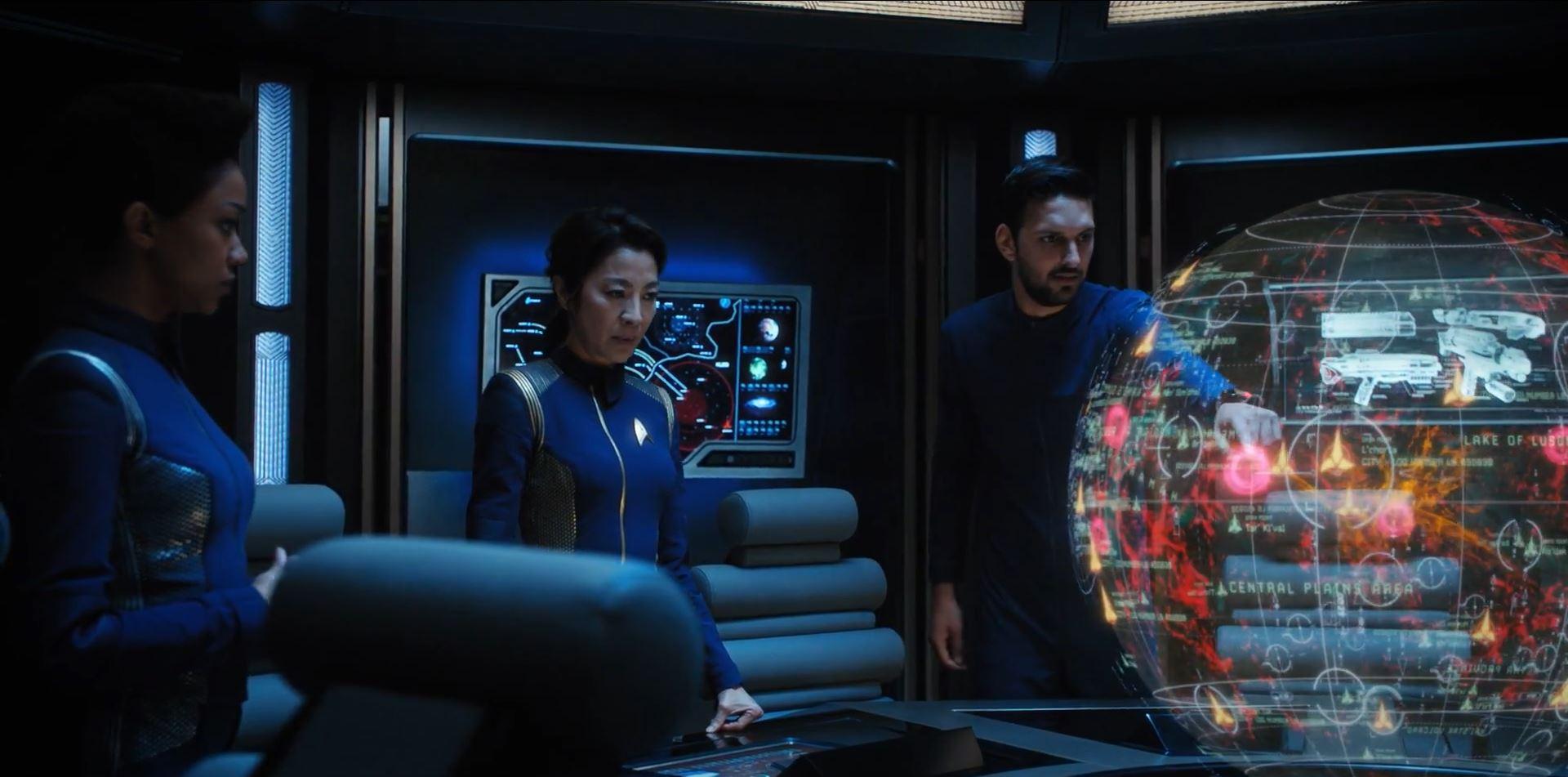 Star Trek Discovery - Burnham Georgiou and Tyler plannign their strike