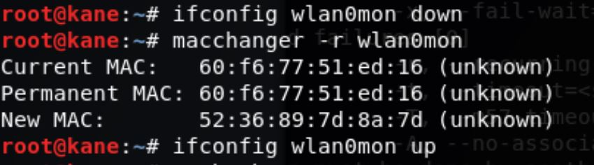 Macchanger wireless hacking