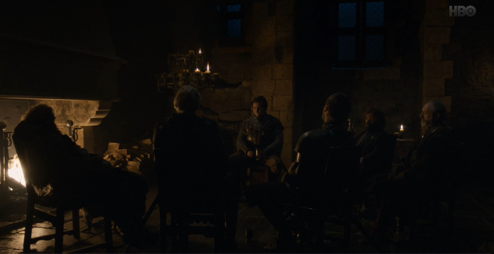 Game of Thrones S08E02 A Knight of the Seven Kingdoms Review - Davos, Podrick, Tyrion, Jaime, Brienne and Tormund around the fire