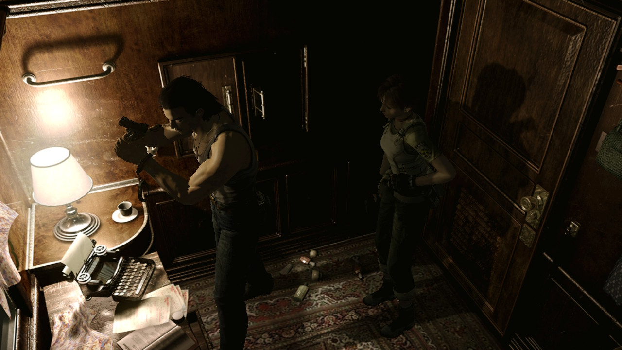 Resident Evil Zero - using a typewriter to save