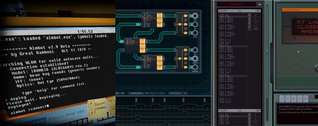 Programming Games - Exapunks Shenzhen IO and Quadrilateral Cowboy