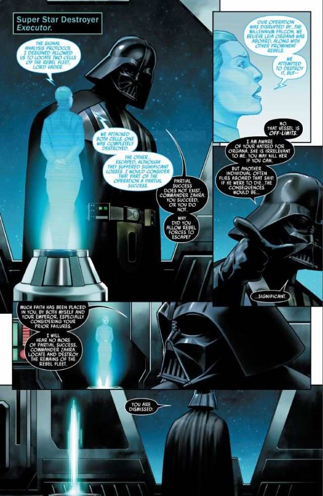 Star Wars (2020) #1 - Commander Zahra and Darth Vader