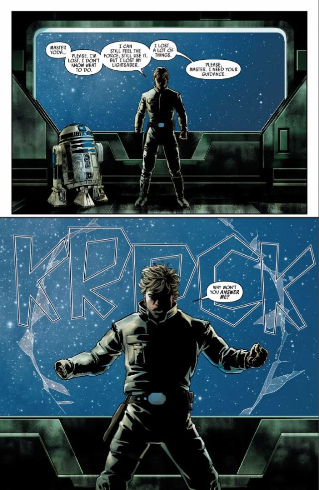 Star Wars (2020) #1 - Luke Skywalker using the dark side