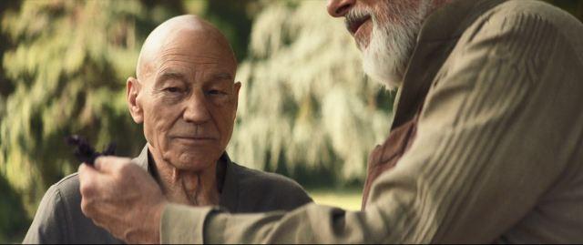 Star Trek Picard S01E07 Nepenthe - Jean-Luc smells the basil