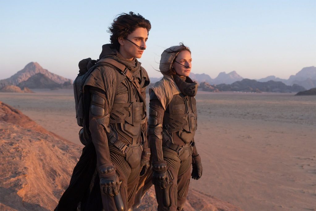 Dune 2020 - Timothee Chalamet as Paul and Rebecca Ferguson as Lady Jessica