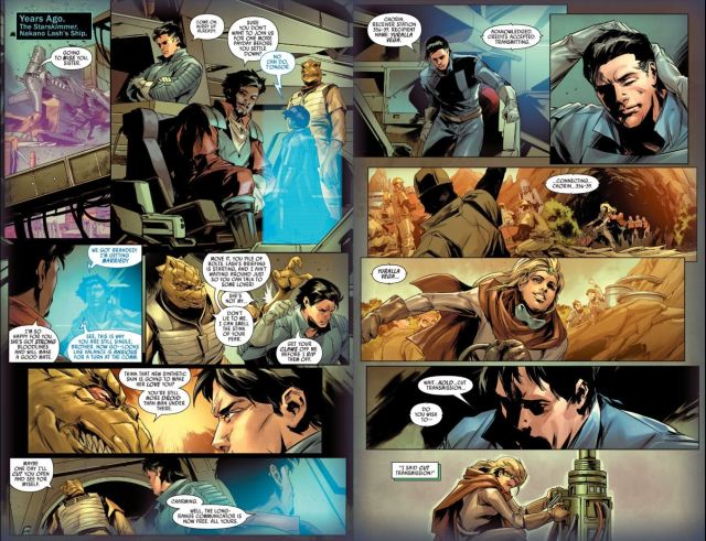 Star Wars Bounty Hunters issue 3 Valance and Bossk arguing