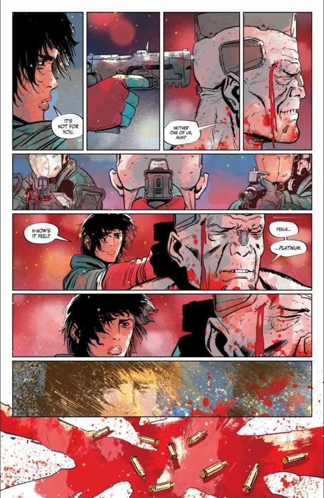 Cyberpunk 2077 Trauma Team issue 4 Nadia pulls the trigger