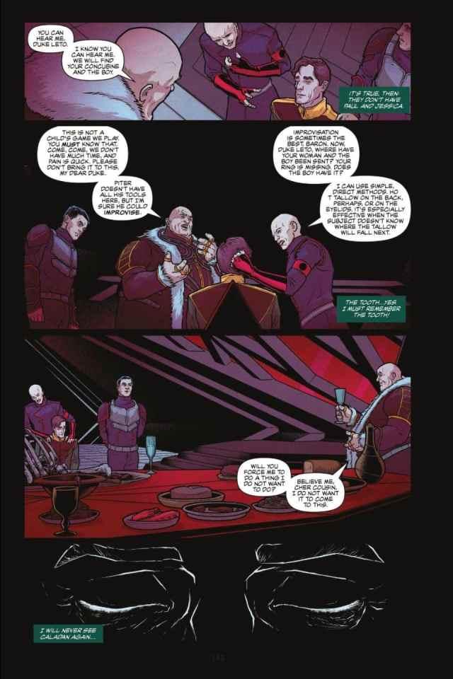 DUNE The Graphic Novel death of duke leto