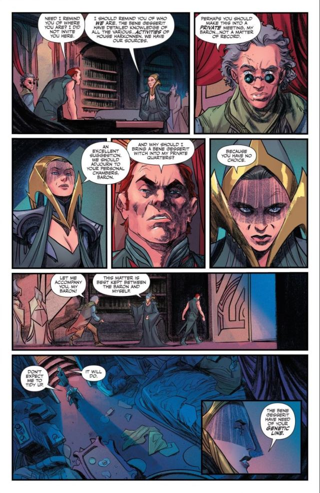 Dune House Atreides issue 3 Gaius Helen Mohiam blackmails Baron Harkonnen