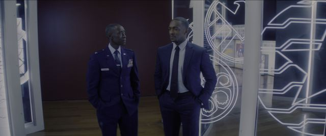 Don Cheadle as Rhodey on The Falcon and the Winter Soldier
