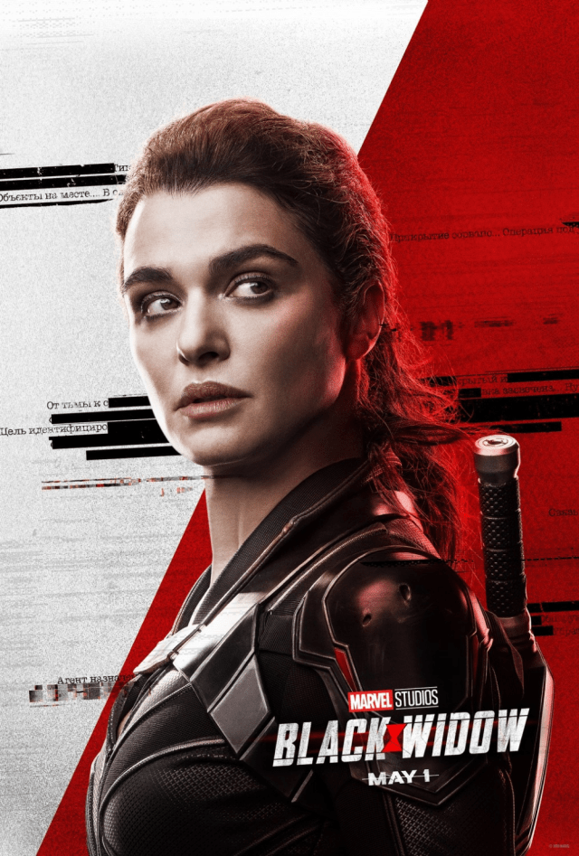 Rachel Weisz in Black Widow poster