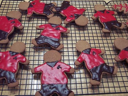 Redshirt gingerbread cookies