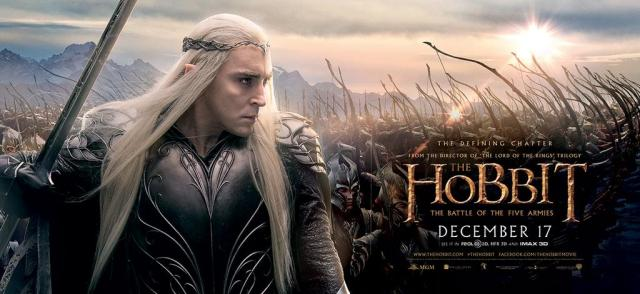The Hobbit TBOTFA banner Thranduil