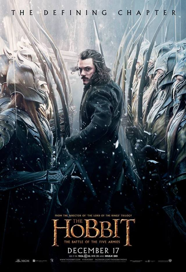 The Hobbit TBOTFA theatrical poster Bard