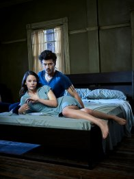 MIDNIGHT, TEXAS -- Season: 1 -- Pictured: (l-r) Sarah Ramos as Creek, Francois Arnaud as Manfred -- (Photo by: Virginia Sherwood/NBC)