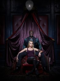 MIDNIGHT, TEXAS -- Season: 1 -- Pictured: (l-r) Arielle Kebbel as Olivia, Peter Mensah as Lemuel -- (Photo by: Virginia Sherwood/NBC)