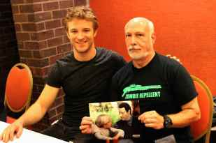 Mark with actor Michael Welch