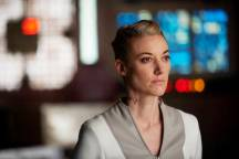 "DARK MATTER -- ""But First, We Save the Galaxy"" Episode 213 -- Pictured: Zoie Palmer as The Android -- (Photo by: Russ Martin/Prodigy Pictures/Syfy)"