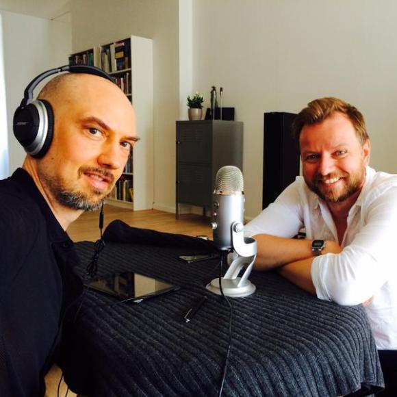 Jens og Anders under optagelse af Scifi SNAK