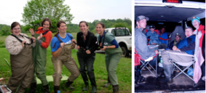 Field biologists sometimes have to make their own fun.