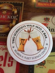 two scientists coaster