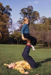 Playing with my dad, 1971.