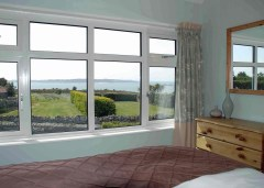 View from cottage bedroom