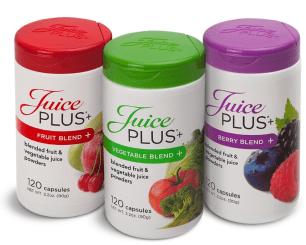 Juice Plus+ supplement bottles