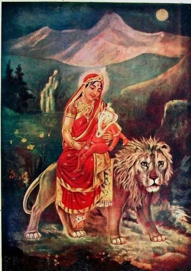 Goddess Parvati, the great Yogin
