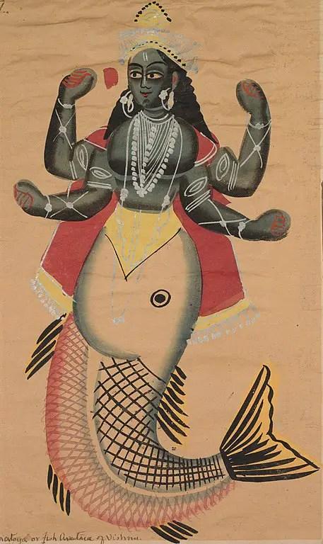 Matsya Avatar in 24 Avatars of Vishnu