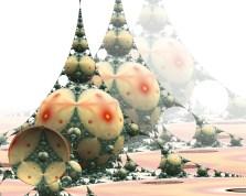 """Un """"Mandelbox"""" 3D, un tipo especial de fractal resultado del análisis multifractal. Representa los puntos en el espacio que no se van al infinito bajo la acción de un conjunto de transformaciones geométricas."""