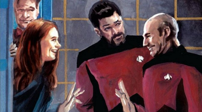 IDW Star Trek / Doctor Who official crossover comic review