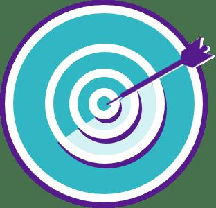 icon of an arrow in a bullseye