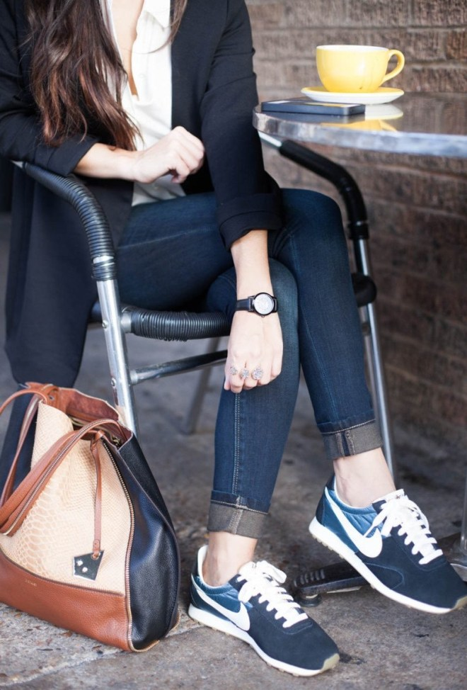 cuff jeans with shoes