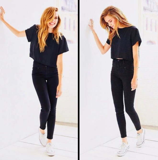 BLACK TEE STYLE ALL BLACK OUTFIT