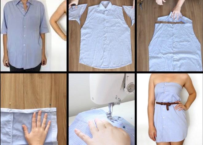 men's shirt into tank top