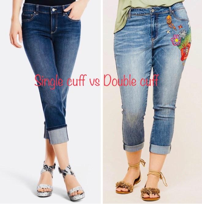 single cuff jeans vs double cuff jeans