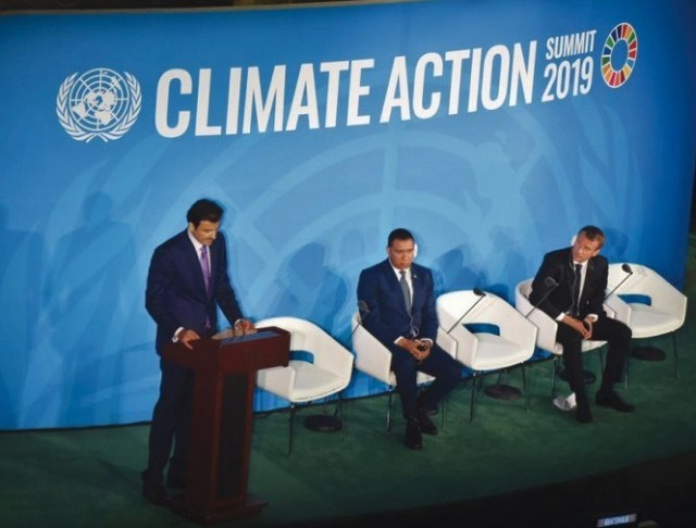 Sheikh Amir Al Thani, climate change, UN summit, 7th General Assembly, New York