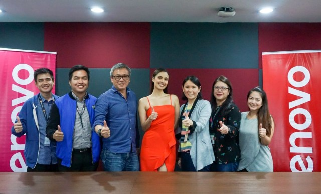 Megan Young with Lenovo executives