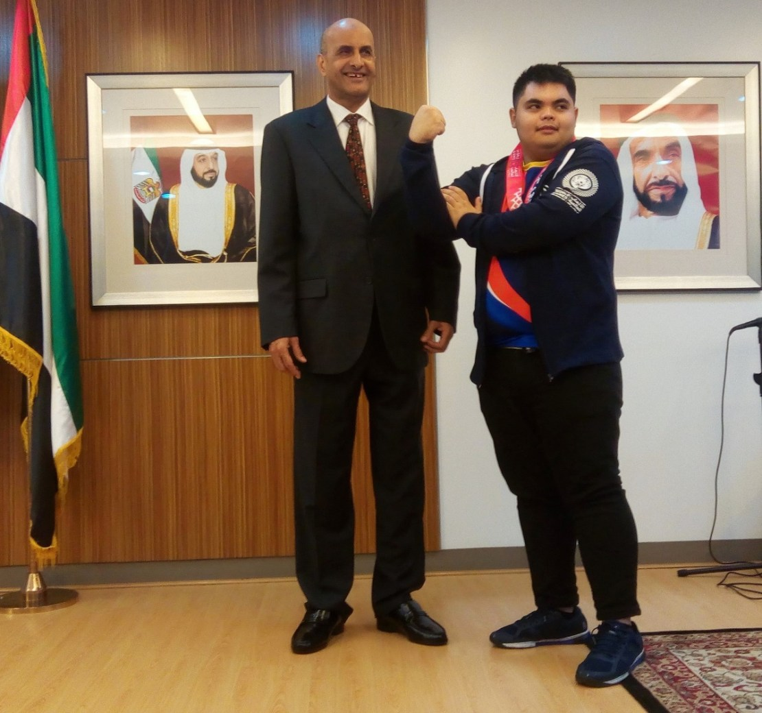 United Arab Emirates, Abu Dhabi, Amb. Hamad Saeed Al-Zaabi, Special Olympics, World Games, Filipino athletes